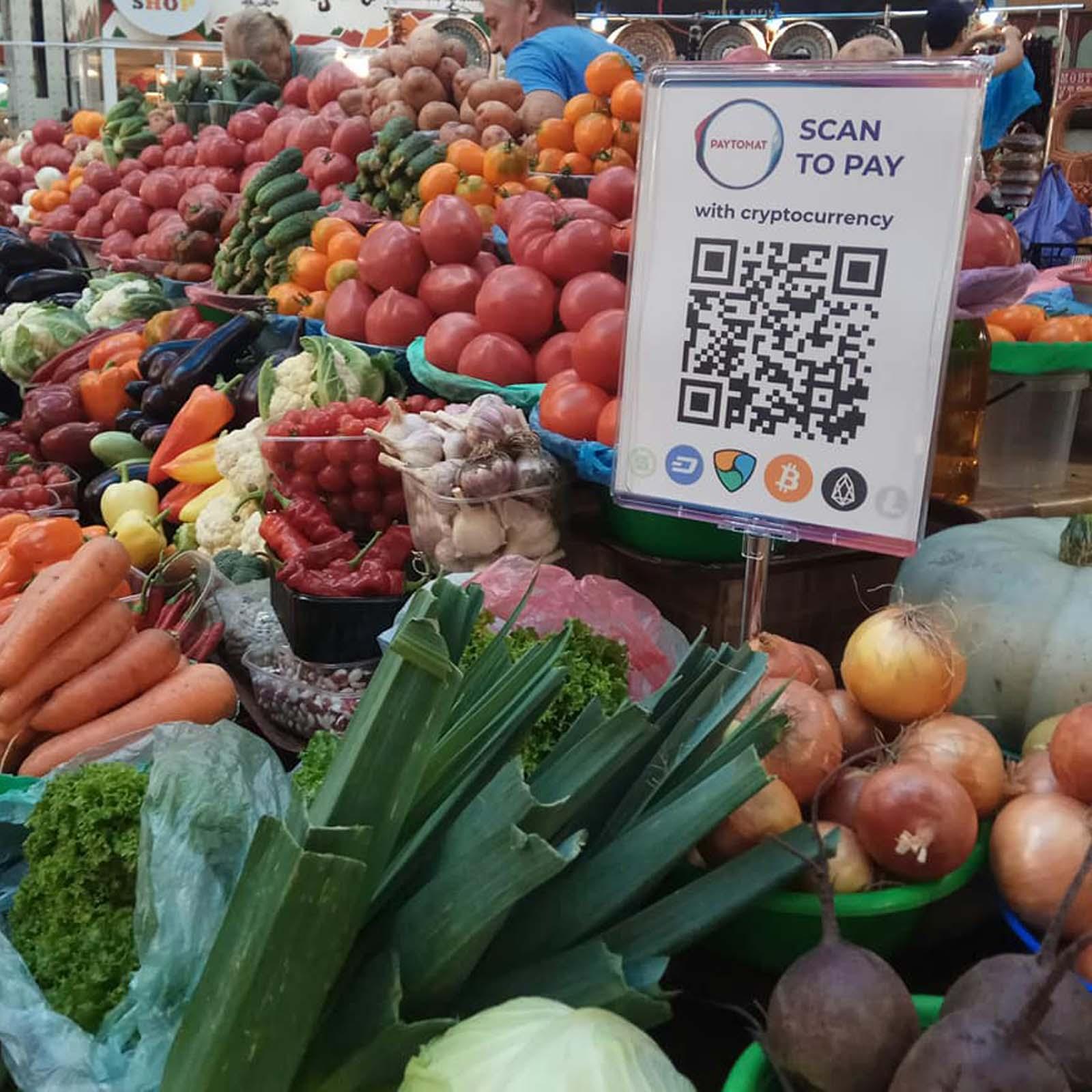 Kiev's Bessarabsky Market Accepts Cryptocurrencies for Groceries